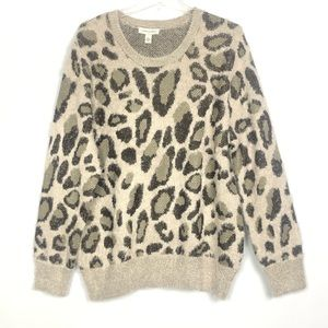 NWT Vintage America Sweater Leopard Design Size L